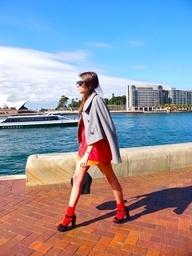 #dresscolorfully red socks