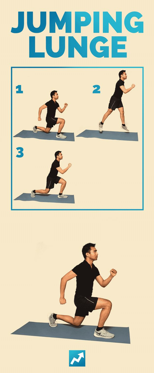 Jumping Lunge | The Only 12 Exercises You Need To Get In Shape