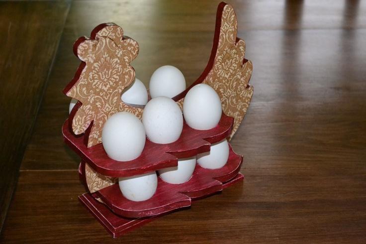 para decorar la cocina, gallina porta huevos | Decoupage | Pinterest