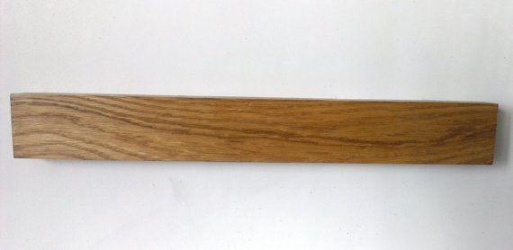 Magnetic Knife Rack Oak Knife Holder Wood Knife by WOODINDECOR