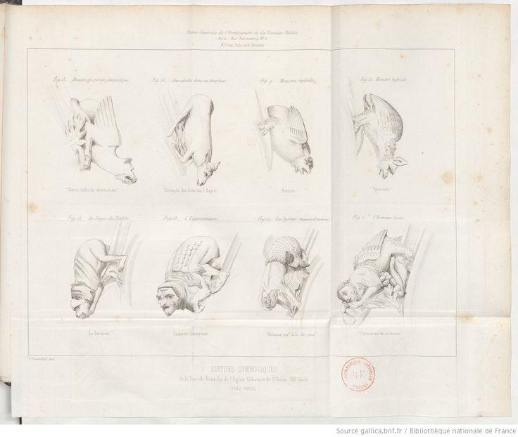 Mémoire sur 32 statues symboliques observées dans la partie haute des tourelles de Saint-Denys, par Mme Félicie d'Ayzac,... Précédé d'une introduction traitant du symbolisme dans l'architecture, par M. César Daly,... | 1847
