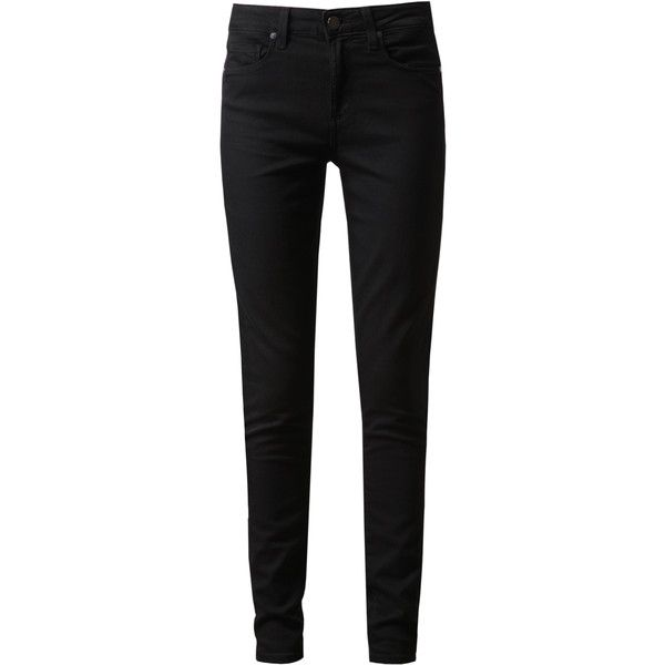 PAIGE DENIM Hoxton High-waisted Skinny Jeans ($240) ❤ liked on Polyvore featuring jeans, pants, bottoms, pantalones, high waisted skinny jeans, 5 pocket skinny jeans, paige denim jeans, skinny leg jeans and skinny fit denim jeans