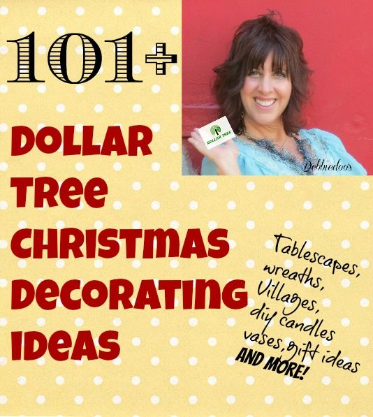 101+ Dollar tree Christmas decorating ideas. Save it for Next year, or go get that last minute Christmas present now..tons of ideas here!