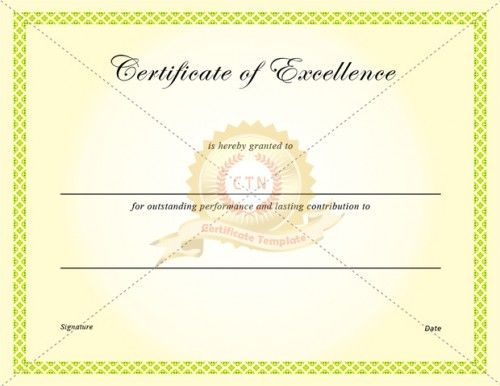 28 best Excellence Certificate images on Pinterest Certificate - award of excellence certificate template