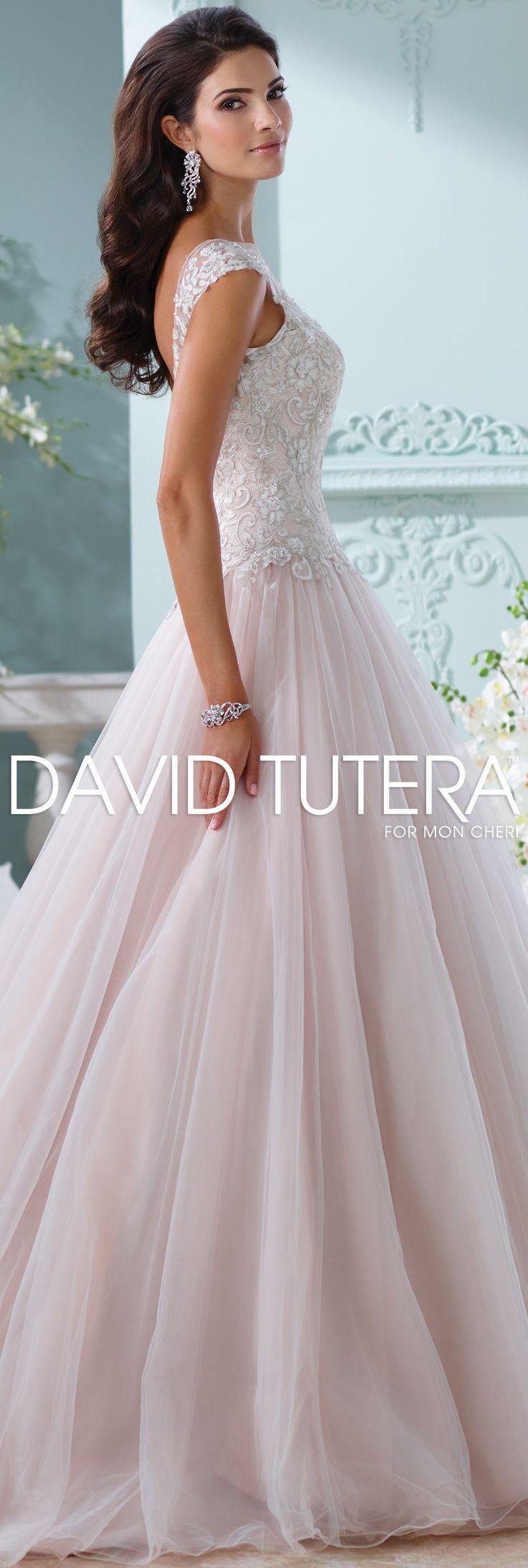 The David Tutera for Mon Cheri Spring 2016 Wedding Gown Collection - Style No. 116203 Idalia @moncheribridals #tulleandlaceweddingdresses
