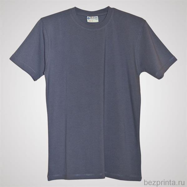 Серая облегающая футболка без рисунка мужская