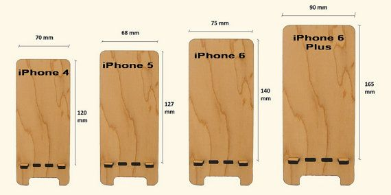 iPhone Stand gadget organizers Carved Wood with by MustHaveGift