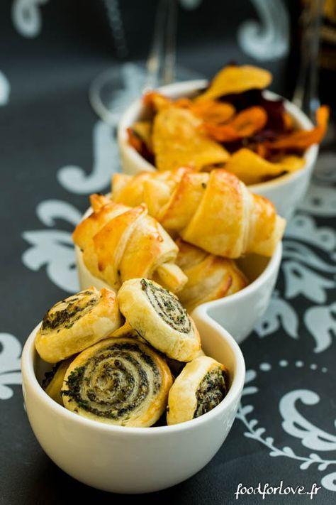 Pour le salon du blog culinaire 2014, j'ai eu le plaisir de réaliser une démo pour LIDL. On m'a demandé de proposer des feuilletés de Noël ! Je me suis prê