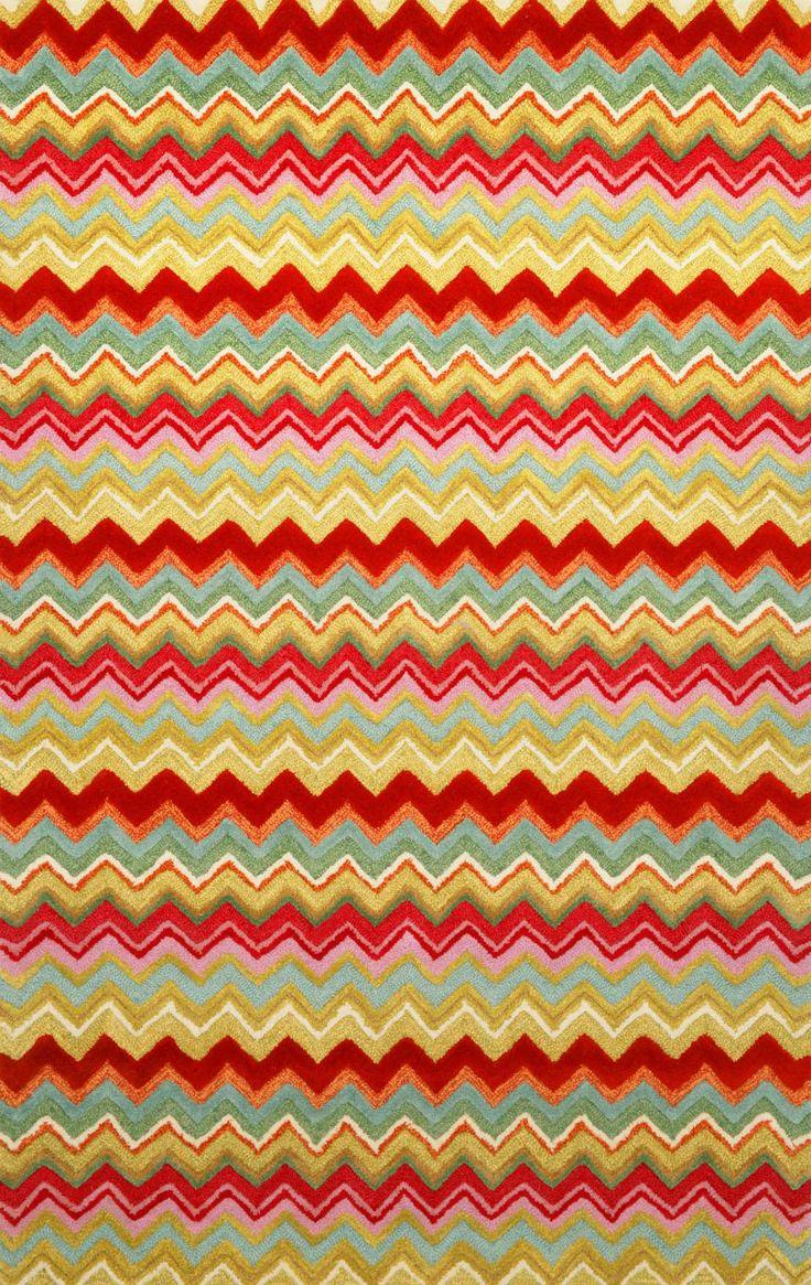 Assorted Color Area Rugs   Trans Ocean Seville Zigzag Stripe Multi 9666/44