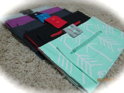 Babywearing Attachable Nappy Wallets - Choose Colour - Designs by Baby and Mrs C