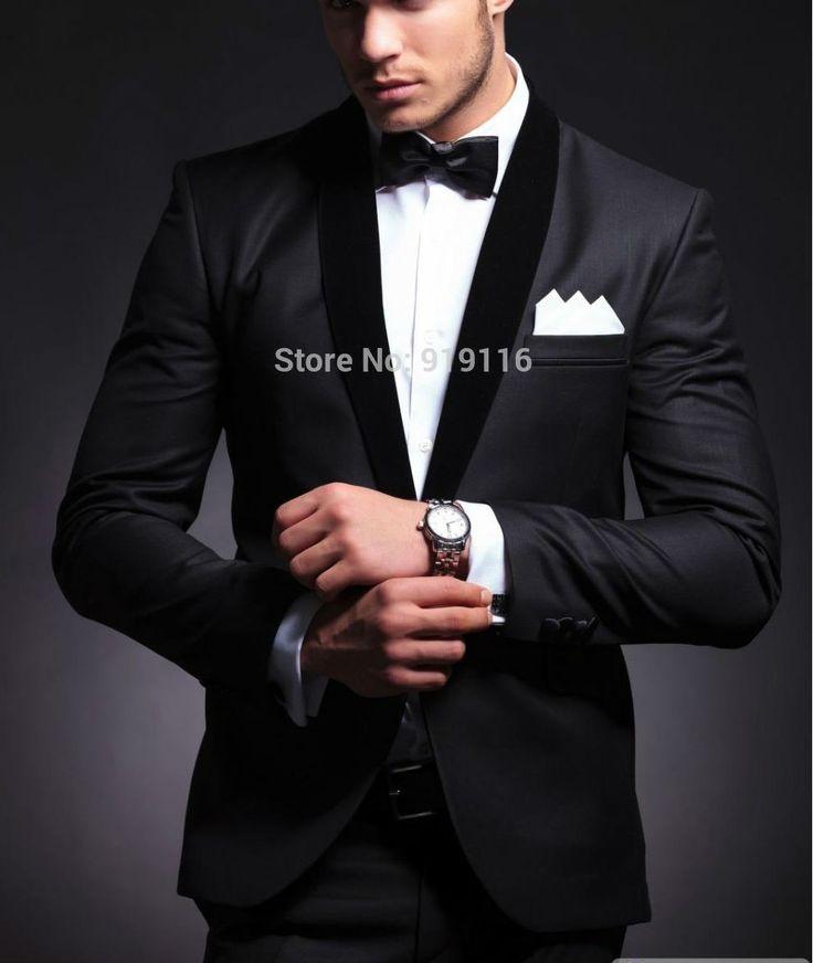 Elegant Grooms Wear Black Smoking Dinner jacket/Wedding Suits For Men/Best mans 3 Peices Suits(Jacket Pants Bowtie)CM-8803 ...repinned vom GentlemanClub viele tolle Pins rund um das Thema Menswear- schauen Sie auch mal im Blog vorbei www.thegentemanclub.de