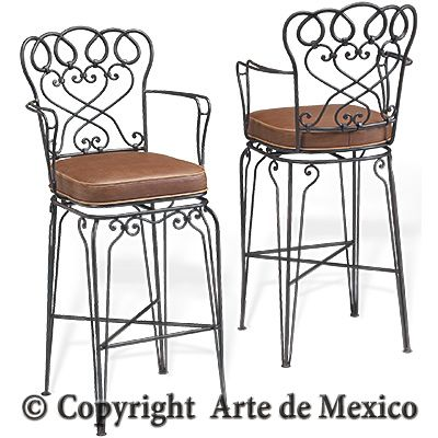 SB 035 1 Wrought Iron Barstool Page Arte De Mexico {is It So Wrong That I  Want To Sell Enough Books Someday To Buy Stuff From Arte De Mexico? And U2026