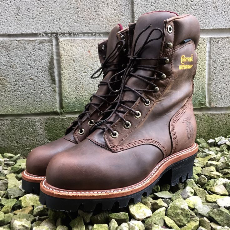"Chippewa 9"" Steel Toe Waterproof Insulated Lace Up Logger Boots 25405"