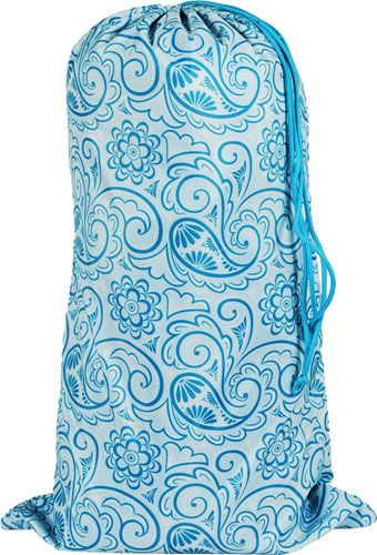 Laundry Bag - Aqua Paisley