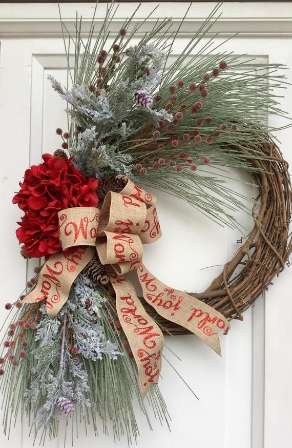 Holiday Grapevine Wreath Grapevine Wreath For Front Door Etsy