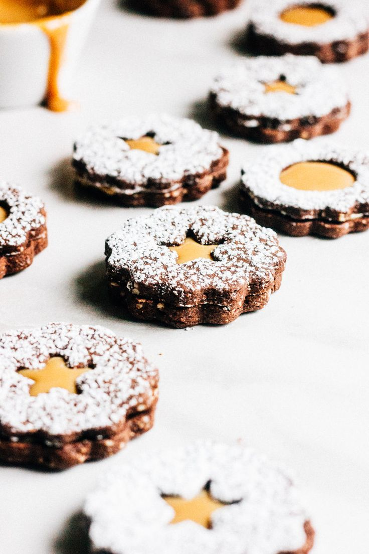 Chocolate Linzer Cookies with Dulce De Leche — The Whole Bite