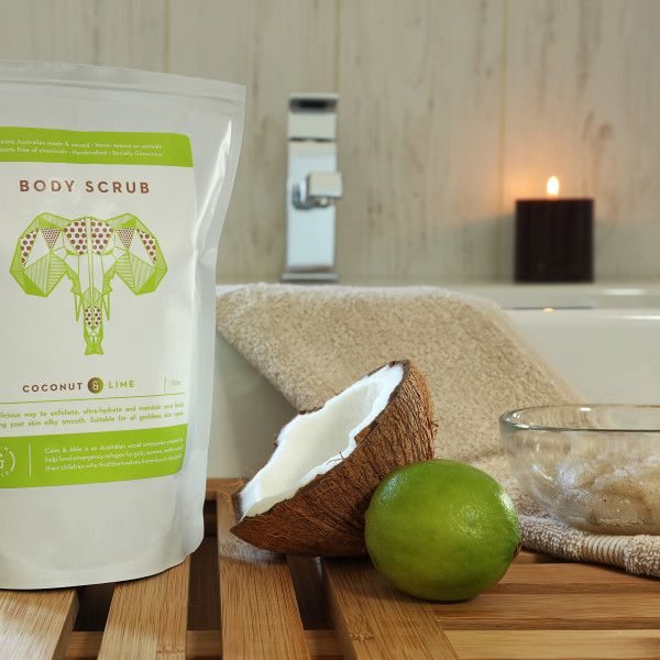 Coconut and Lime Body Scrub