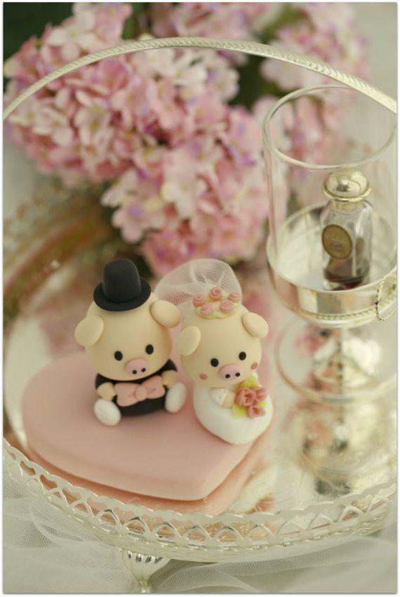 Piggy e porcellino sposa e lo sposo torta nuziale di kikuike