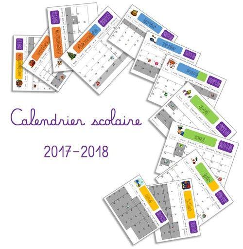 Calendriers scolaires mensuels 2017-2018 pour les zones A, B, C et la Belgique !