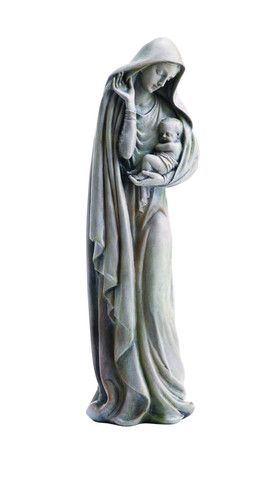 """Madonna And Child Loving Garden Statue 12"""" Tall – Beattitudes Religious Gifts"""