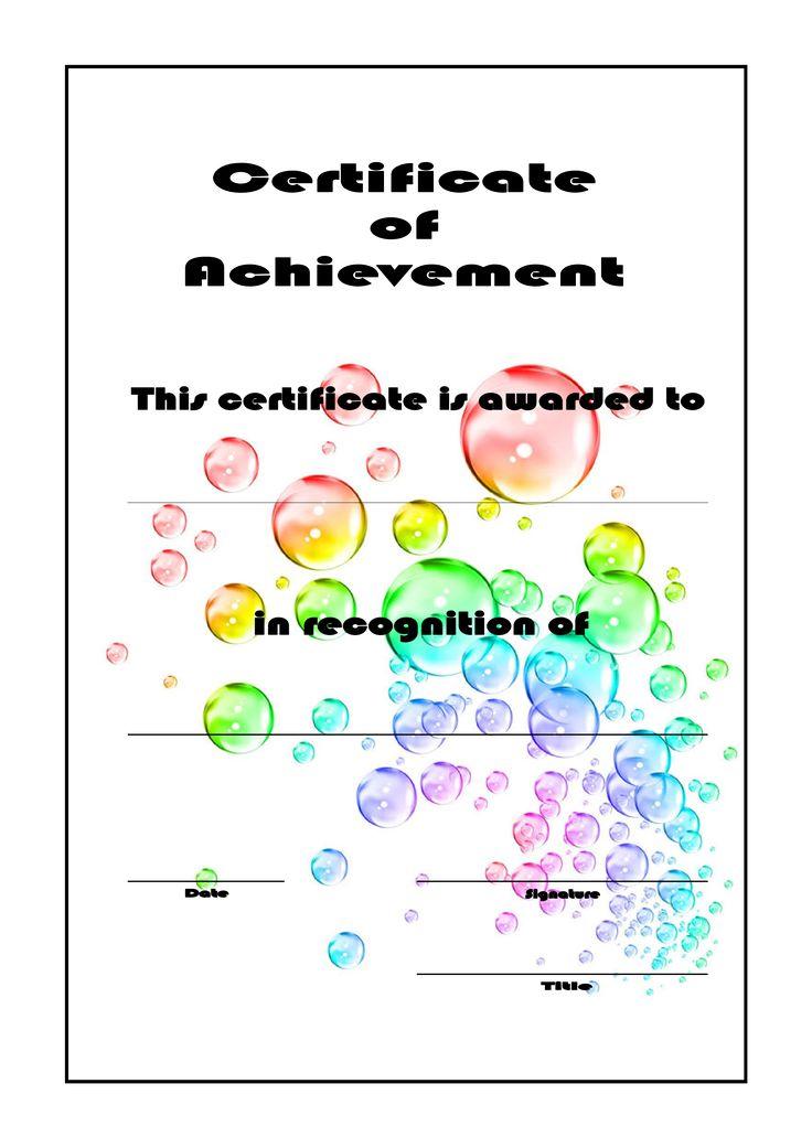 Viac ako 25 najlepších nápadov na Pintereste na tému Certificate - certificate achievement template