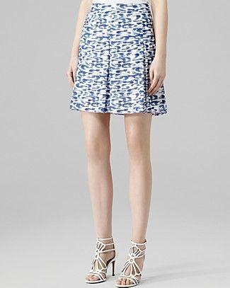REISS Skirt - Stara Print Pleat   Bloomingdale's