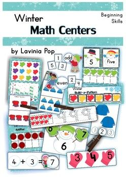 Math Centers - Winter (Beginning Skills) 127 pages.