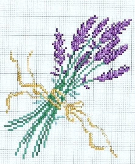 <3 lovely lavendar pattern - good for a sachet