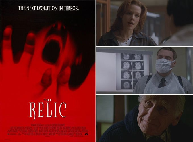 The Relic (1997) Penelope Ann Miller and Tom Sizemore are trying to save the guests at the Chicago Museum of Natural History from a dangerous creature connected with a recent shipment of relics