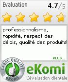 Avis consommateur: professionnalisme, rapidité, respect des délais, qualité des produits!