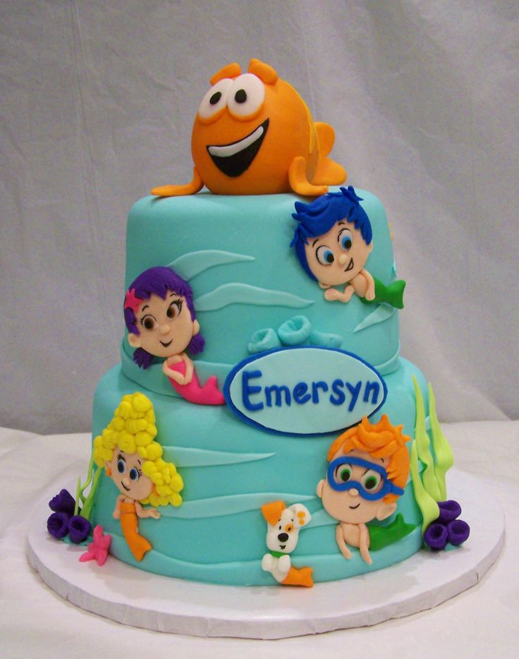Edible Cake Images Dunedin : 182 best images about Cakes - Bubble Guppies on Pinterest ...