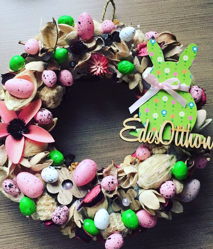 SofiTive- wreath, easter, bunny, rabbit, eggs, colour, spring
