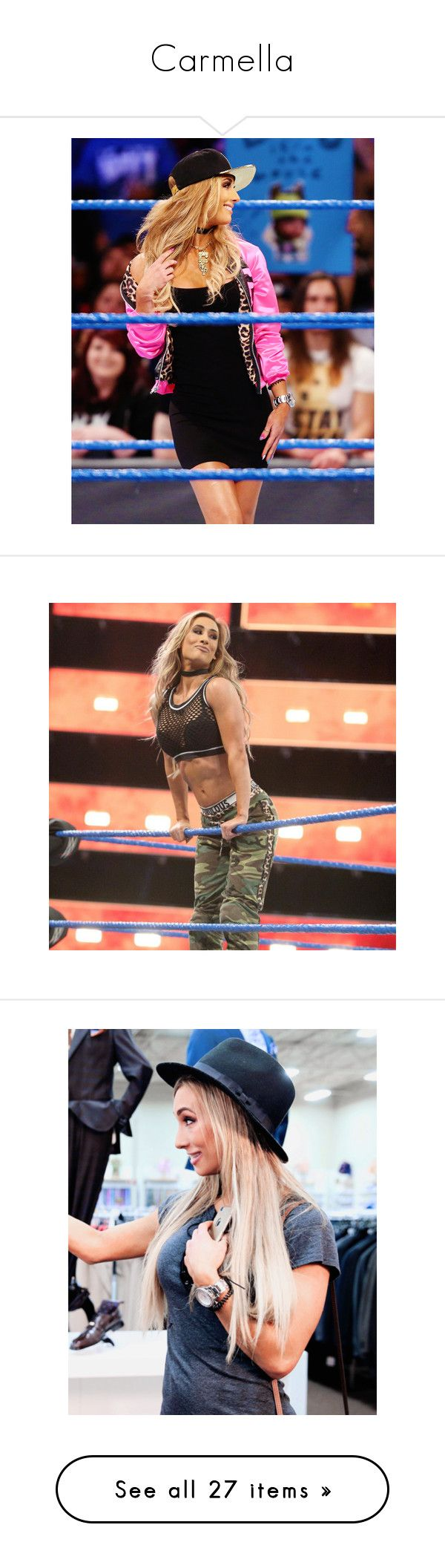 """""""Carmella"""" by amysykes-697 ❤ liked on Polyvore featuring wwe, carmella and nxt guys and girls"""