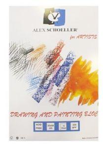 Alex Schoeller 165 gr. Dokulu Resim Defteri 15 Sayfa 35x50 cm.