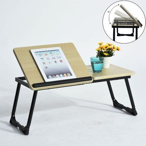 Folding Laptop Desk Portable Bed Stand Folding Computer Table Valentines Gift