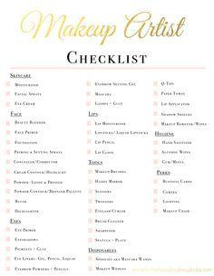 Makeup Artist Kit Checklist | www.fortheloveofmakeupbaby.com