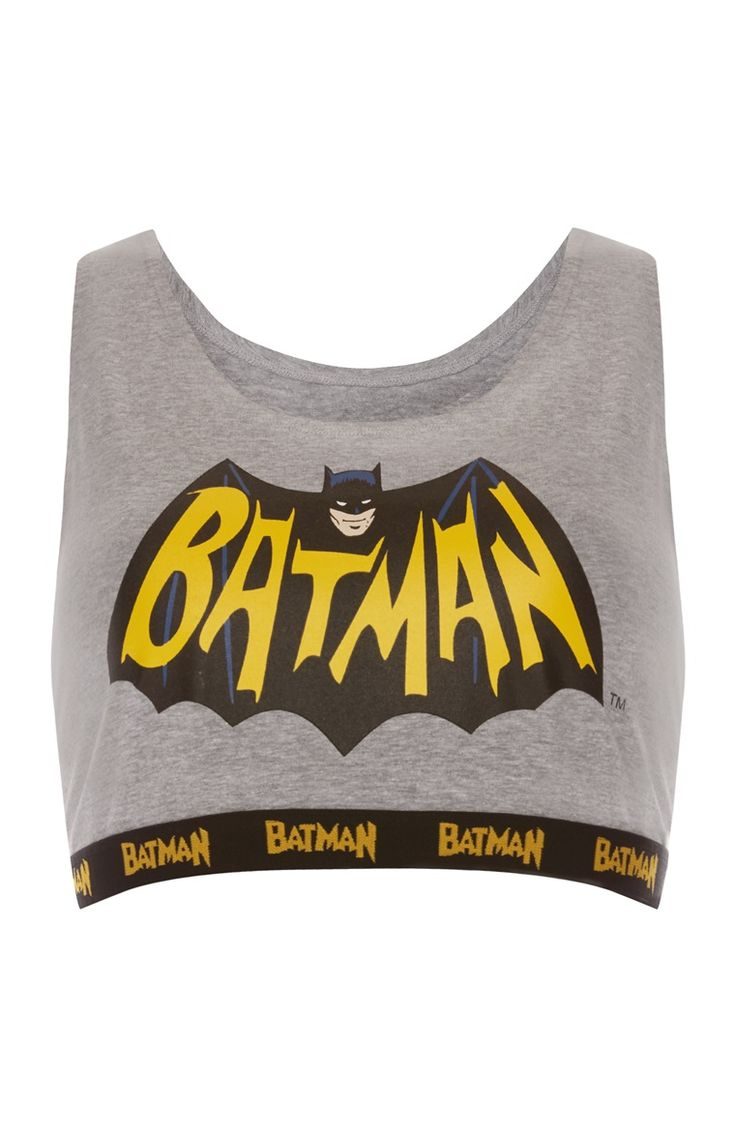 Primark - Grijs kort topje Batman