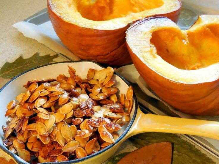 making pumpkin seeds, roasting, baking pumpkin, healthy snacks, crunchy, honey roasted