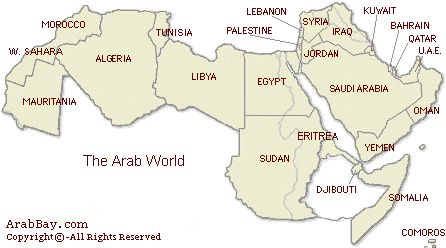 Map of the Arab World ...