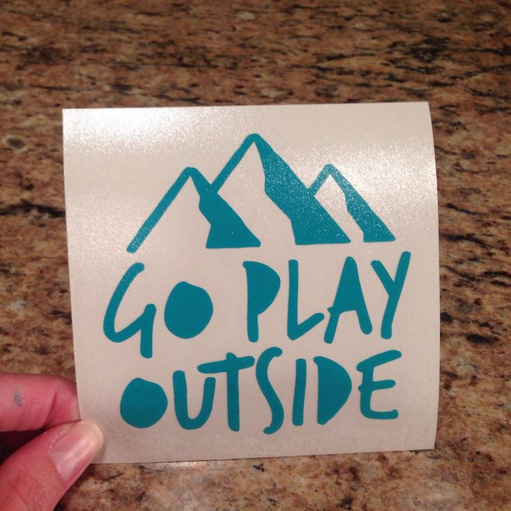 Go play outside vinyl sticker quotes vinyl decal sayings laptop sticker car decal window or bumper sticker