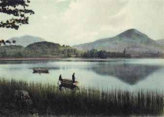 Elger Esser :: Lourdes, 2004. Digital Chromogenic print / boat, waterscape