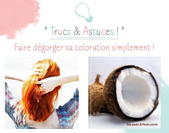 Faire dégorger sa coloration simplement : Il arrive à beaucoup d'entre nous d'obtenir une coloration de cheveux plus foncée que prévue... Heureusement, le lait de coco possède des propriétés très utiles ! Appliqué une fois par semaine, en masque avant le shampoing, il permet d'alléger progressivement votre couleur. En plus, c'est un soin hautement nutritif, alors n'hésitez pas à l'utiliser pour avoir des cheveux en parfaite santé !