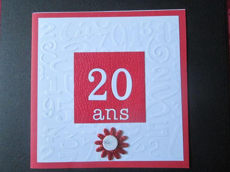 Une Carte anniversaire originale 100% fait main pour 20 ans : Cartes par les-petits-papiers-de-marie