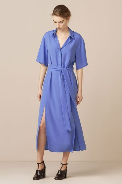 Spring means transition from a robe coat to a robe dress.Finery London Mayfield Split Front Shirt Dress, $89, available at Finery London. #refinery29 http://www.refinery29.com/cheap-sundresses#slide-20
