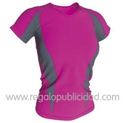 Camisetas de mujer de deporta, 100% poliéster transpirable. Disponible en diferentes colores.