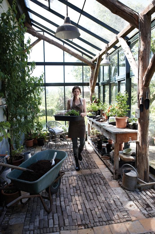 Oh to have a greenhouse like this...