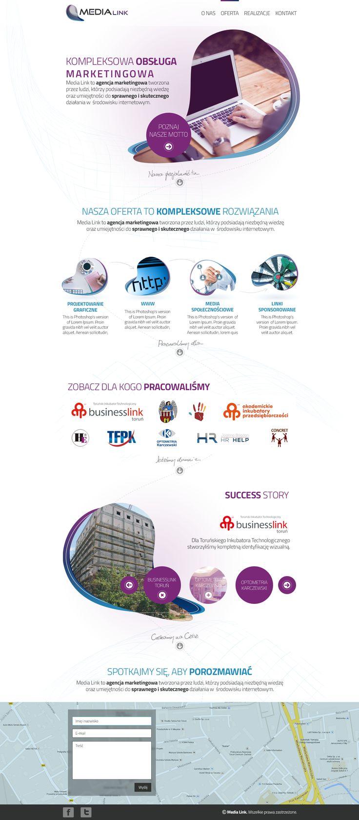 Projekt strony www.media-link.pl