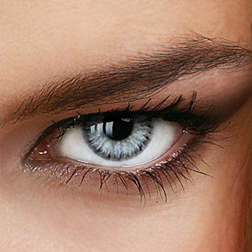 Marble Gray lentilles de contact avec et sans correction dans gris–de la colorée de l'année luxde Lux®–(jusqu'à de 12.00dpt) + 5.00:…