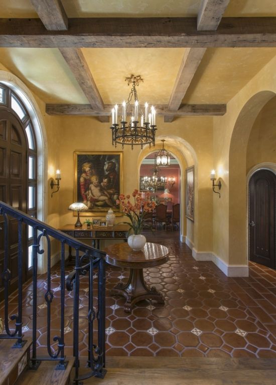 Entry hall foyer spanish colonial colonial spanish for Colonial foyer ideas