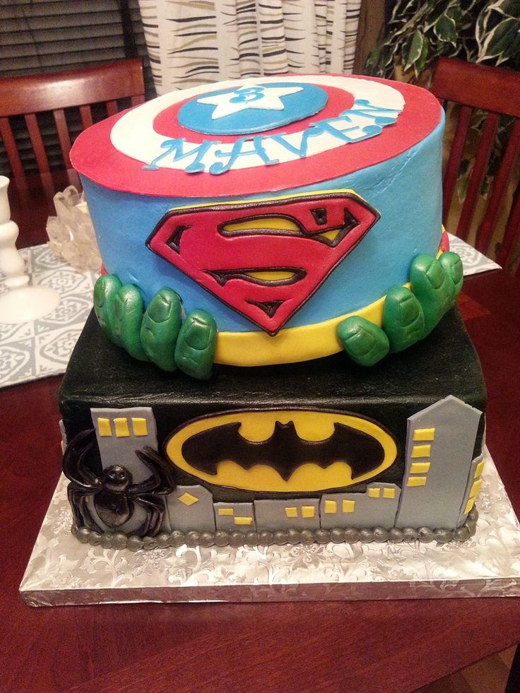 26 best Batman Captain America cake images on Pinterest Birthday